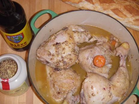 Mijoté de poulet à la Bière et Moutarde de Meaux